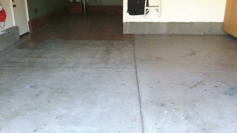 Before Garage Epoxy Flooring