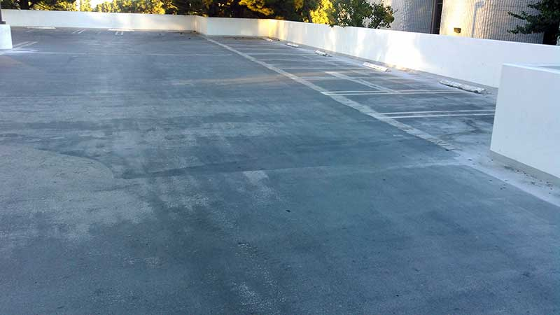Before Waterproofing Above Grade Parking Garage Deck