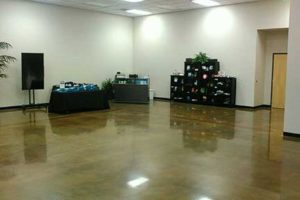 polished concrete in commercial setting