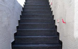 commercial concrete basement stairs waterproofing