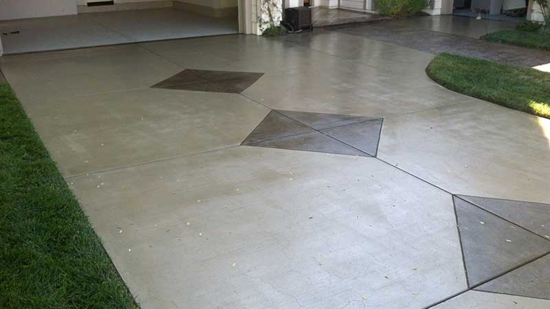 After Overlaying Concrete Driveway