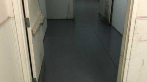 after polishing concrete floor