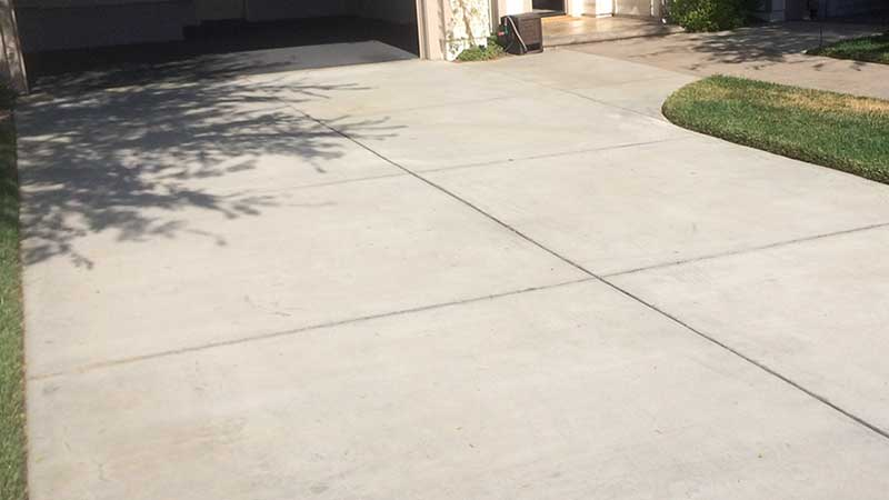 Before Overlaying Concrete Driveway