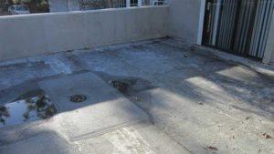 before waterproofing balcony above grade