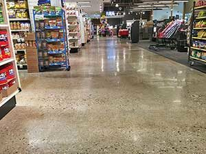 epoxy floor in retail store